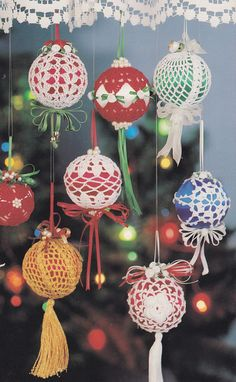 Christmas Ornament Crochet Patterns