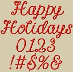 Happy Holidays Embroidery Font by 8Clawsandapaw.com