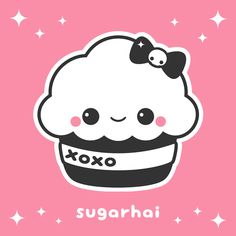 Super kawaii cupcake animated gif from sugarhai. Aw.