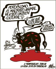 Dibujo de Forges del 15/09/2015 en contra del Toro de la Vega