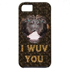 Mastiff Gifts Cute Dog iPhone 5s Case & 5 Case For iPhone 5/5S.  iPhone, iPad, Laptop Cases for PC and MAC Cases with YOUR PHOTOS and or TEXT.  Not only protect your devices but show off YOUR PHOTOS and TEXT http://www.zazzle.com/littlelindapinda/gifts?cg=196221416973479736&rf=238147997806552929*/   ALL of Little Linda Pinda Designs CLICK HERE: http://www.Zazzle.com/LittleLindaPinda*/