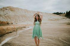 Elle Harper : Green Lace Dress