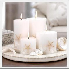 Seaside Inspired | shell starfish candle from SeasideInspired.com. Become inspired with shell starfish candle from Seaside Inspired.