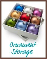 """Christmas Storage Solutions  & Holiday Organizing Ideas"" -- sections and tips for storage containers, lights, ornaments, trees, wreaths, and wrapping paper."
