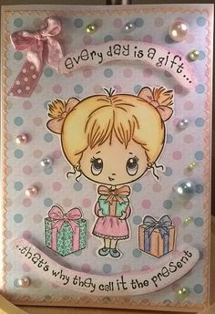 card 'The Present' Crafters Companion Cards, Clip Art Pictures, Card Ideas, Stamps, Presents, Day, Places, Gifts, Fictional Characters
