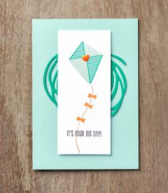 This fun card features the new Swirly Bird stamp set and Swirly Scribbles stamp set. #stampinup