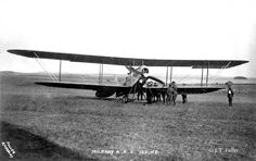 Major John Harold Whitworth Becke of No 6 Squadron RFC, in RE5 serial number 380 . Taken June 1914 at the RFC Concentration Camp, Netheravon