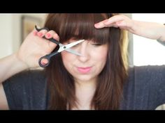 How To Cut Blunt Fringe/Bangs! | Gemsmaquillage ...this method is truly GENIUS! So easy I think I may go cut my bangs now!