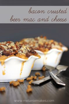 Bacon Crusted Beer Mac and Cheese.  I am literally drooling over this recipe!  This would be my husband's perfect Valentine meal!   #macandcheese #bacon #recipe