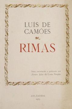 Rimas / Luís de Camões ; texto estabelecido, revisto e prefaciado por Alvaro J. da Costa Pimpão - Coimbra : Atlántida, 1973