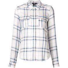 Paige 'Mya' plaid shirt (3.396.210 IDR) ❤ liked on Polyvore featuring tops, white, tartan top, paige denim shirt, tartan shirt, white plaid shirt and white shirt