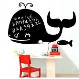 Happy whale blackboard Removable Blackboard decals Gift for kids Room decor Animal decals