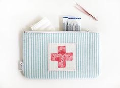 First Aid Zipper Pouch Bandage Bag Summer Kids by AppleWhite, $23.00
