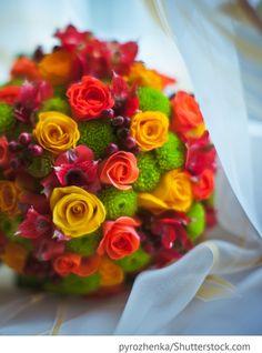 Brautstrauß im Herbst für russische Hochzeiten
