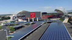 Largest (so far) sports stadium to solar in the USA here at Rio Tinto Staduim Sandy, Ut