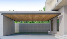 カーポート(駐車場・ガレージ)のリフォーム工事費用や価格の相場は? Car Porch Design, Garage Design, Patio Design, Carport Modern, Garage Workshop Plans, Garage To Living Space, Garage Extension, Townhouse Exterior, Two Story House Design