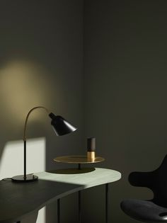 The Palette Desk by Jaime Hayon and The Bellevue Table Lamp by Arne Jacobsen…