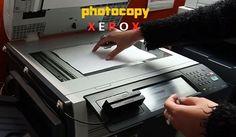 operating Photocopy Xerox machine