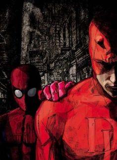 Spider-Man (Lucas Johnson) and DareDevil (Ethan Bilbrey)