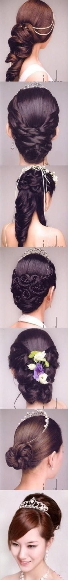 A variety of bridal hairstyles