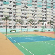 Amazing images of pastel-coloured courts by Australian photographer Ward Roberts.