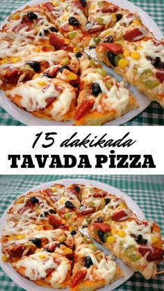 15 Dakikada Tavada Pizza – Nefis Yemek Tarifleri Pizza in 15 Minutes Pan – Yummy Recipes # to the the Yummy Recipes, Pizza Recipes, Crockpot Recipes, Vegetarian Recipes, Yummy Food, Copycat Recipes, Food Items, Vegetable Pizza, Quiche