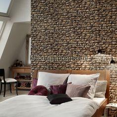 Ruwe bakstenen grijs 9079-29 | Wood n Stone AS Creation | kleurmijninterieur.nl