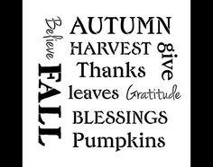 Harvest Expressions  Word Art Stencil  Select Size  por StudioR12