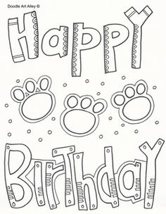 134 Best Happy birthday coloring pages images in 2019 ...