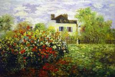 """""""Monet's Garden At Argenteuil"""" by Claude Monet. $149. Oil painting from www.globalwholesaleart.com"""