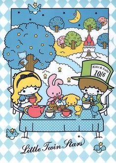 Little Twin Stars Alice In Wonderland! Soooo cute!<3 :)