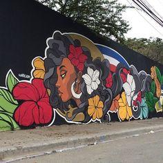 Willy Gomez in Pantoja, Dominican Republic 2015 Murals Street Art, Street Art Banksy, Graffiti Wall Art, Mural Wall Art, Mural Painting, Kunst Inspo, Art Inspo, Urbane Kunst, Urban Street Art