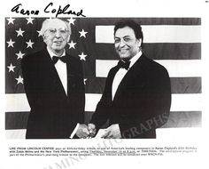Zubin Mehta, Aaron Copland, 85th Birthday, Conductors, Writer, Composers, Signs, American, Celebrities