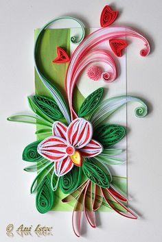 *QUILLING ~ Printre hobby-uri: quilling, kusudama, origami, bijuterii handmade...: Quilling - Orchids (2)