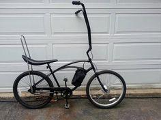 electric bike wheel on banana seat bicycle