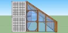 shipping container cabin with greenhouse 4