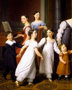 Gods and Foolish Grandeur: The Nathanson Family, by Christoffer Wilhelm Eckersberg, 1818