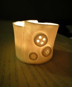 Translucent Porcelain Shirt cuff Buttons & seams by reshapestudio, $30.00