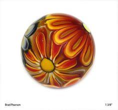 Flower power handmade marble by Brad Pearson ...WOW!!!