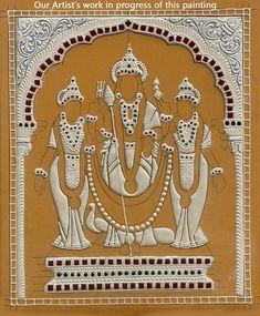 Murugan With Devasana and Valli Tanjore Indian Traditional Paintings, Indian Art Paintings, Crafts To Do, Clay Crafts, Arts And Crafts, Tanjore Painting, Krishna Painting, Outline Drawings, Art Drawings