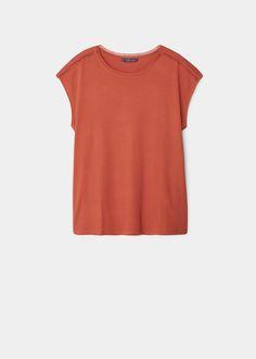 Baumwoll-t-shirt mit viskose | VIOLETA BY MANGO