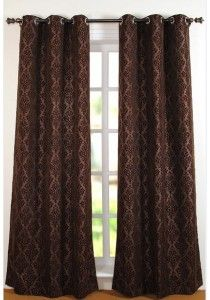 "Curtain Victoria Chocolate 96"""