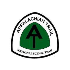 Hiking at appalachain Hike American Vinyl Green Round Appalachian Trail Maine to Georgia Sticker