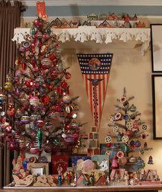 Love vintage ornaments, trees, anything vintage Christmas!