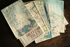 Vintage world maps.