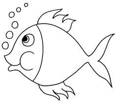 Desenho De Peixe Para Colagem
