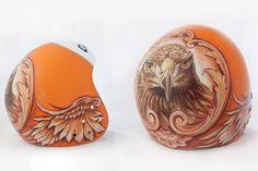Adler Motiv auf dem Skihelm eines Kunden. ski helmet custom painting
