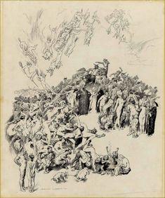 NORMAN LINDSAY THE SORCERER/'S SERVANTS GRAVURE ART GICLEE PRINT FINE CANVAS
