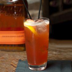 Bulleit Bourbon Kentucky Buck Cocktail Recipe   Liquor.com; lemon juice, strawberry, bourbon, simple syrup, Angostura bitters, ginger beer.