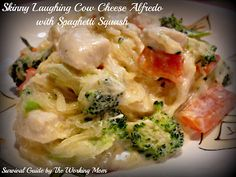"Skinny ""Laughing Cow Cheese"" Alfredo made with Spaghetti Squash"